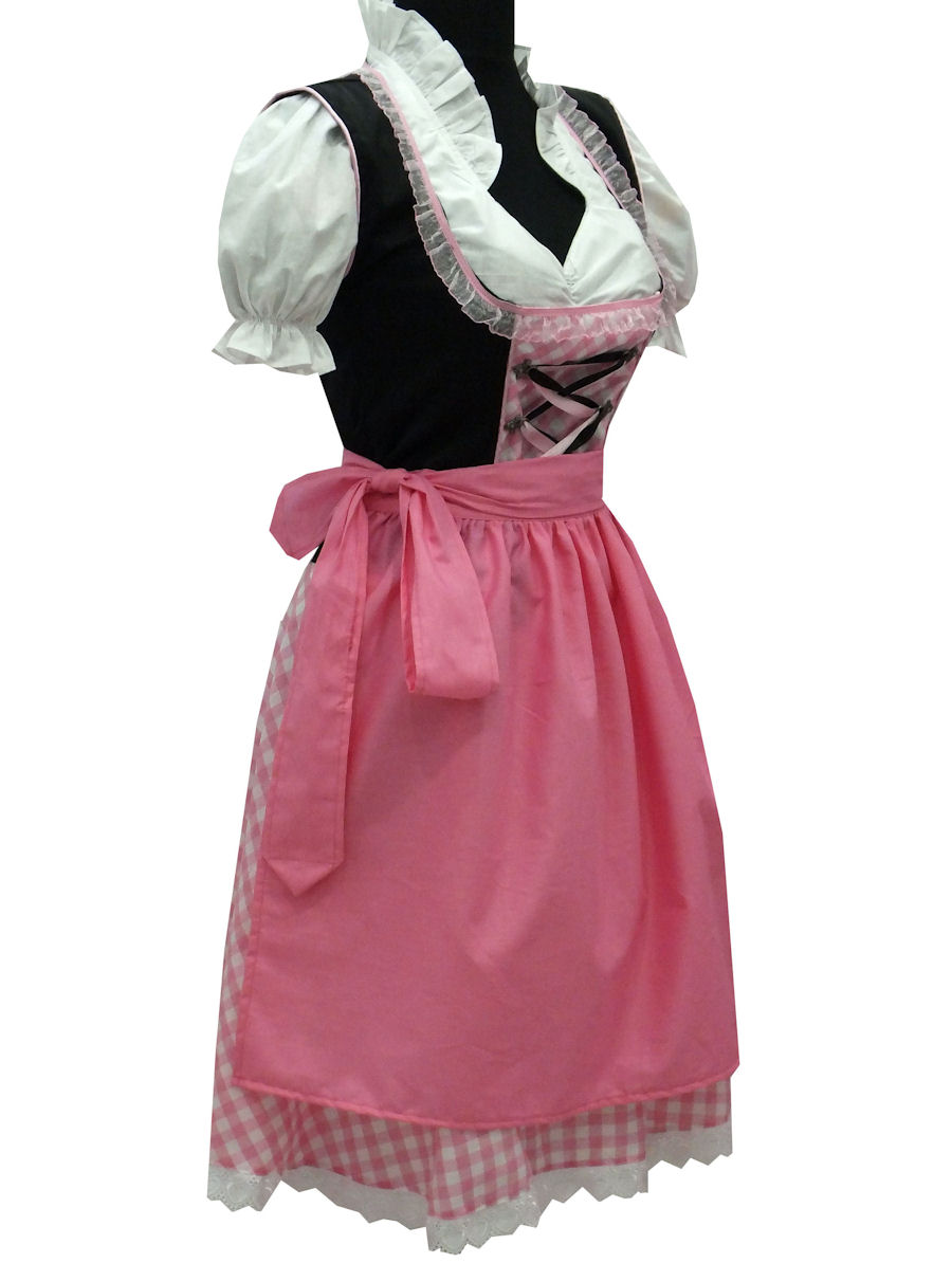 abverkauf trachtenkleid 3tlg dirndl gr 48 kleid bluse. Black Bedroom Furniture Sets. Home Design Ideas