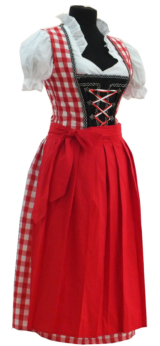 trachtenkleid 3tlg dirndl rot rock 70cm gr 34 36 38 40 42. Black Bedroom Furniture Sets. Home Design Ideas